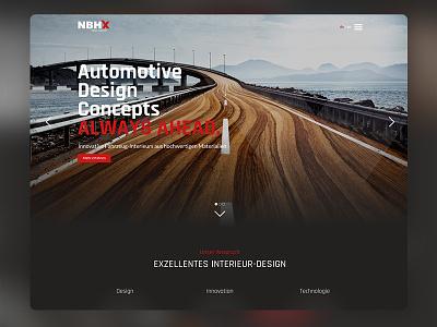 Automotive Interior Webdesign Hero xd wordpress webdesign ux uiux ui screendesign layout hero automotive company adobexd