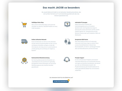 Jacob Web Design Company Career Page Icons xd wordpress webdesign web screendesign page icons company career adobexd
