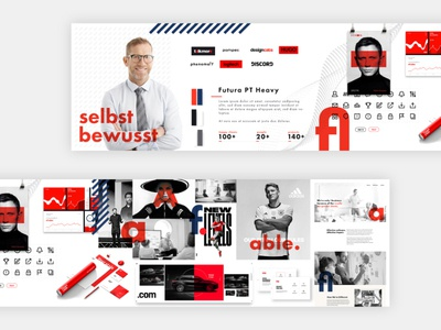 "Stylescape Moodboard 2.0⁣⁣ BRAND KEY WORD ""self-confident"" layout typography graphic company process user profile design ui logo typo identity corporate design stylescape branding brand"