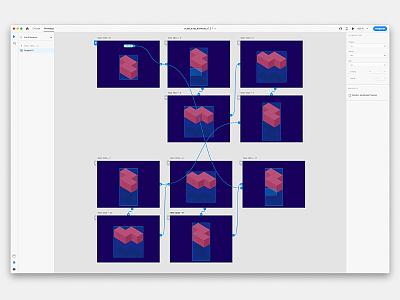 Cubes AdobeXD Auto Animate Feature Prototyp vector ui test xd prototyp boxes animate autoanimate auto-animate adobexduikit adobexd