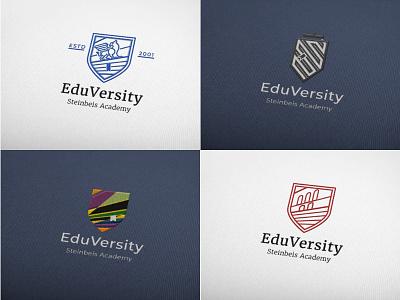 Eduversity Logo web ui icon typography branding vector illustration design logo screendesign
