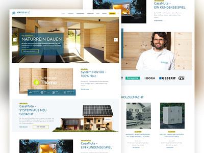 Landingpage Concept Holzgemacht hero landingpage ux design web ui webdesign screendesign company adobexd xd