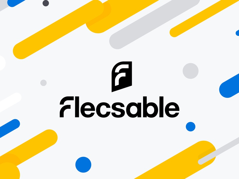 Logo design for flecsable company flat icon typography vector design ui illustration logo branding company
