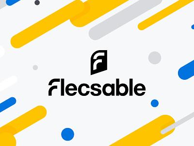 Logo design for flecsable company flat icon typography vector design ui illustration logo branding company