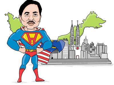 Datuk Seri Dr. Noor Hisham illustration malaysia datuk seri dr noor hisham illustration