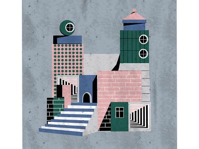 Illustration art city illustration art minimal design icon vector illustration