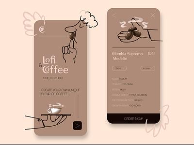 Coffee studio mobile app/illustration comicsart comics ux design logo branding minimal illustration art characterdesign illustration