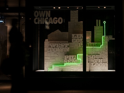 Nike Chicago Marathon store display