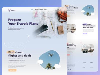 Travel Agency Landing Page booking travel uiux figma website gradient agency website web design ux ui trend 2021 travel agency landing page ui
