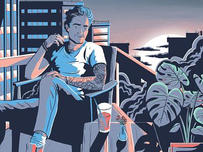 Skyline l illustration design artdirection art