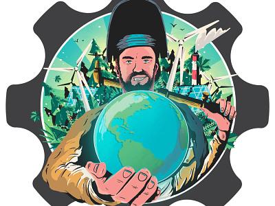 Iron + Earth logo branding editorial illustration design artdirection art