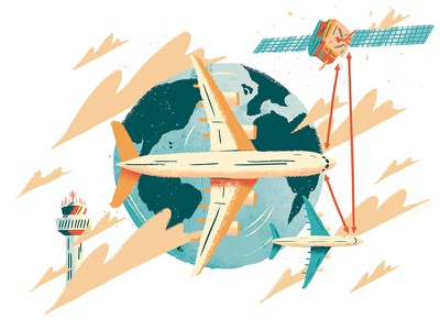 Politico Europe - Green Aviation design artdirection art editorial illustration