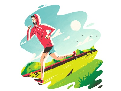 Its all about the cardio... design artdirection illustration editorial art