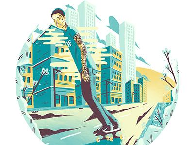 Kick Push It. design artdirection illustration editorial art