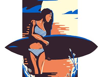 Surf design artdirection illustration editorial art