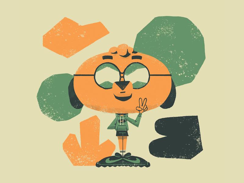 Totti design nike texture dachshund dog illustration