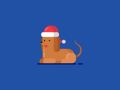 Totti totti hat vector illustration dog wienerdog christmas dachshund
