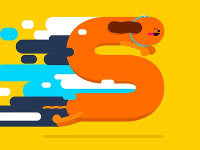 S vector dog illustration dachshund