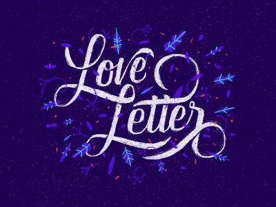 Love letter plants type letter love lettering handmade