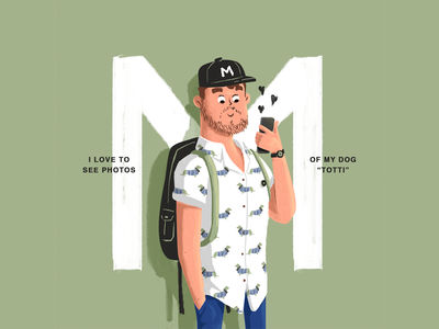 M dachshundlove brush character vector adobe photoshop illustrator illustration