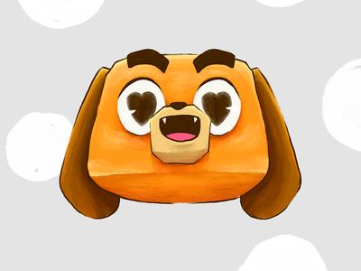 Totti the Sausage Dog character sticker love brush photoshop emoticon illustration dachshund dog
