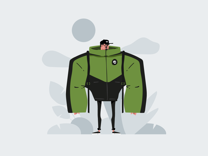 Pech enviroment design adobe ai vector illustration character