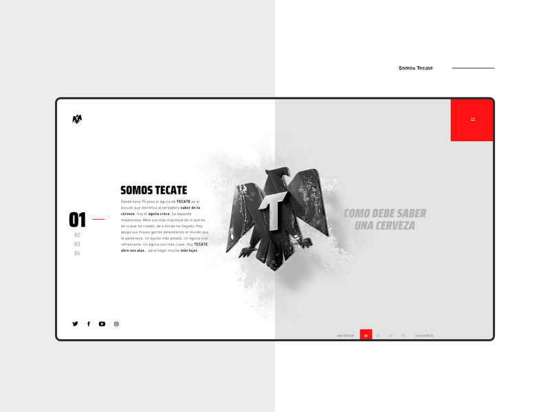 Tecate Website design adobexd interactive interaction website uiux ui