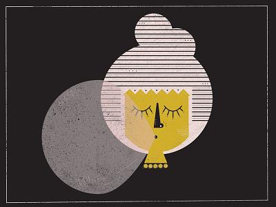 Bubble Girl bangs gum bubble girl illustration