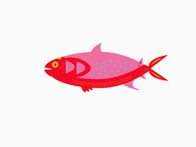 Fish 01 animals lines vector scales fins fish illustration