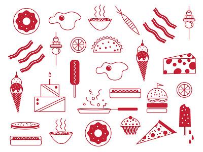 Lunchtime yum foodies wsb uw illustrations food
