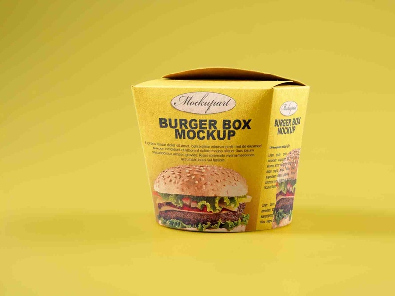 Burger box mockup free PSD Mockuphut Exclusive free psd mockup photoshop freebie free psd illustration psd mockup design branding