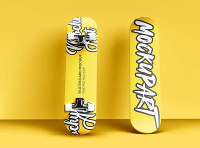 free skateboard mockup psd design free psd mockup free psd freebie psd mockup branding