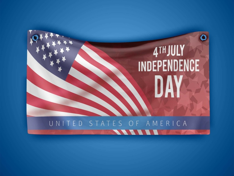 Free Independence day Banner Mockup photoshop free psd mockup freebie design psd mockup