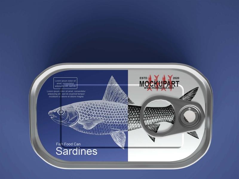 Free fish can mockup PSD Mockuphut packaging free psd coffee cup photoshop free psd mockup freebie psd mockup