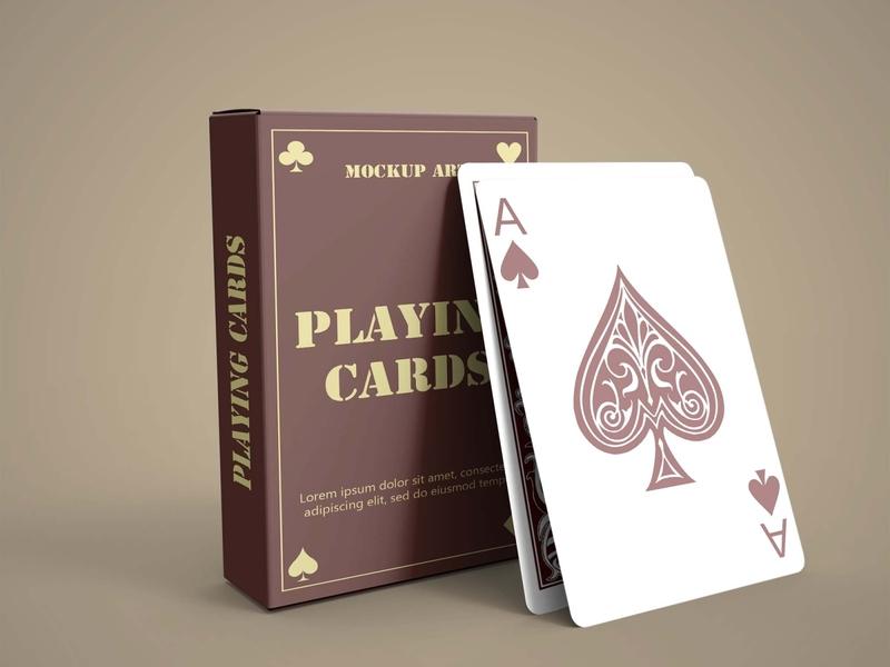 Free Playing Cards Mockup PSD Mockuphut Exclusive card game free psd mockup freebie design psd mockup