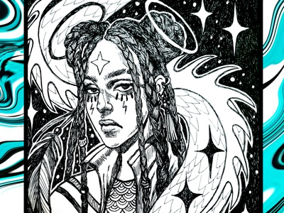 Girl character dtiys cartoon character hand drawn sketching ink graphic illustraion illustration art character character design girl illustration girl character