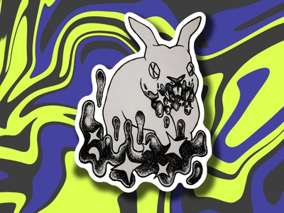 SCP-524. Rabbit stickerart sticker sticker design illustrator inkdrawing inkart challenge character graphic illustraion inktober2019 inktober inktober2020