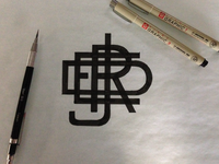 Joshuared Monogram Sketch