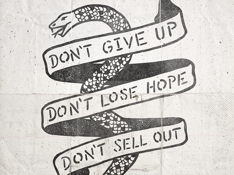 Don t give up dribbble
