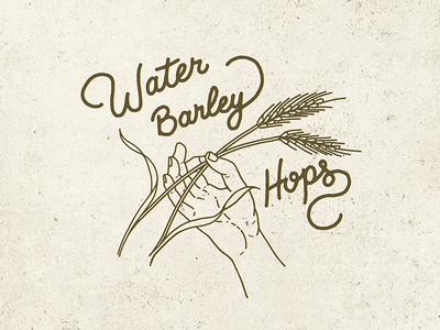 Water, Barley, Hops