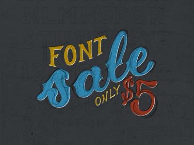 $5 Font Sale!