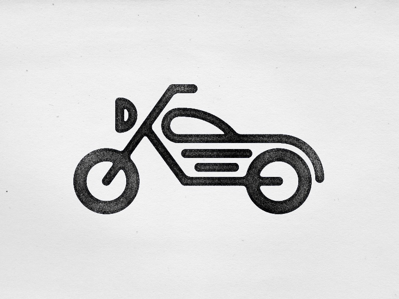 motorcycle icon by joshua gille