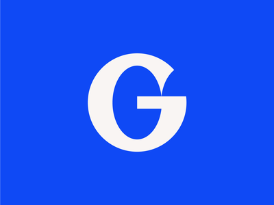 G simple oval geometry identity brand monogram icon logo