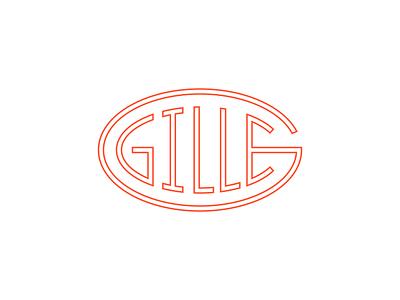 Gille modern vintage oval g letter brand doodle