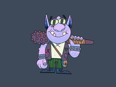 Rego the Ogre club illustration character procreate ogre gille doodle