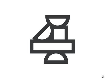 Four foursquare circle brand geometric shapes four 4