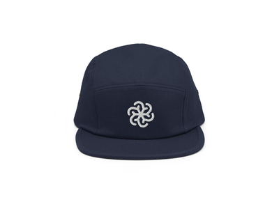 Polar Vortex 5-panel hat thickline gille monoline pictogram weather icon snow snowflakes weather spiral spin snowflake graphic vortex polar