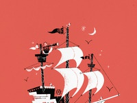 Gille dribbble pirate ship full