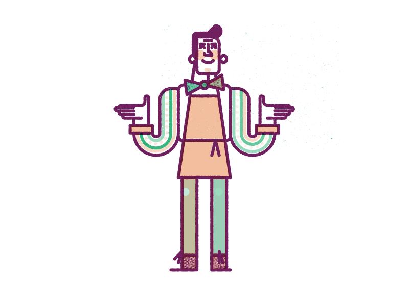 WIP: Baker monoline texture character vector overprint