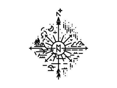 WIP: MN Compass Tattoo